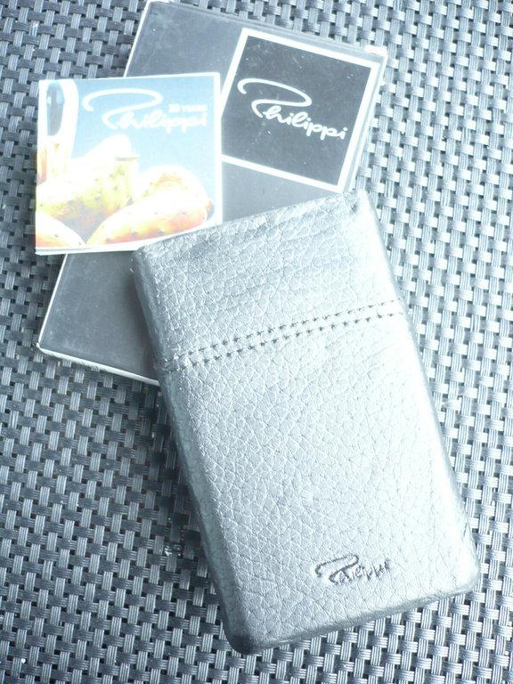 Philippi Design Lambda Visitenkartenhalter Visitenkartenetui Hochkant 233002